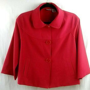 Kim Rogers Swing Jacket Size 12P Women's Red